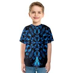 Blue Snowflake Kids  Sport Mesh Tee