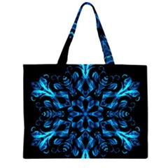 Blue Snowflake Large Tote Bag