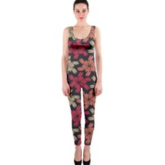 Floral Seamless Pattern Vector Onepiece Catsuit