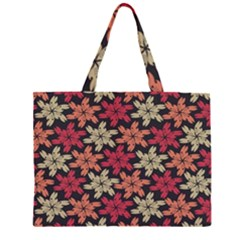Floral Seamless Pattern Vector Large Tote Bag