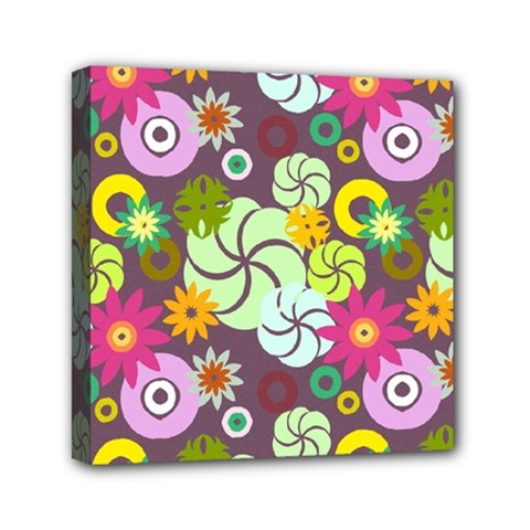 Floral Seamless Pattern Vector Mini Canvas 6  x 6