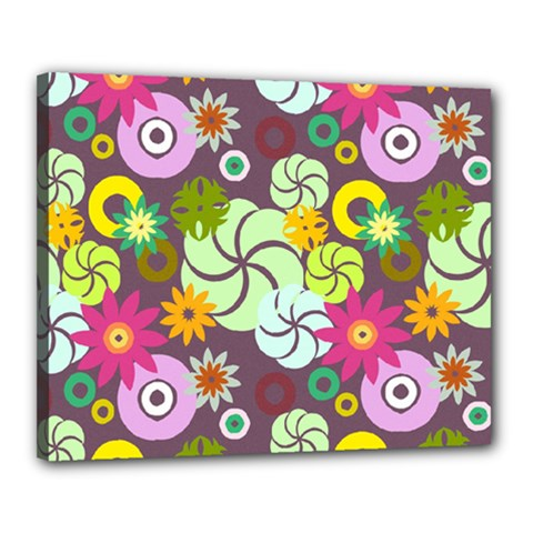 Floral Seamless Pattern Vector Canvas 20  x 16