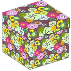Floral Seamless Pattern Vector Storage Stool 12