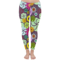 Floral Seamless Pattern Vector Classic Winter Leggings