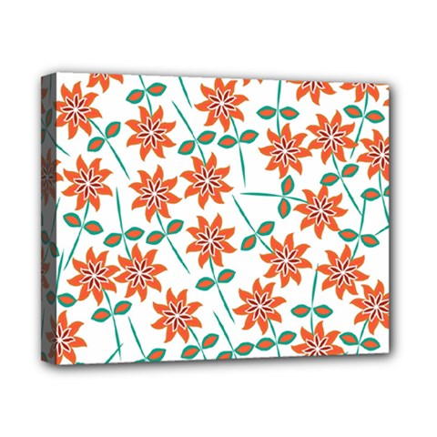 Floral Seamless Pattern Vector Canvas 10  x 8