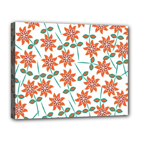 Floral Seamless Pattern Vector Canvas 14  x 11