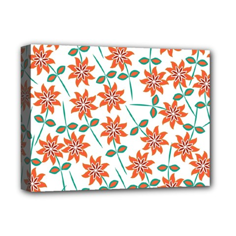 Floral Seamless Pattern Vector Deluxe Canvas 16  x 12