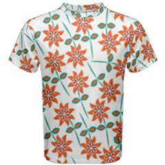 Floral Seamless Pattern Vector Men s Cotton Tee