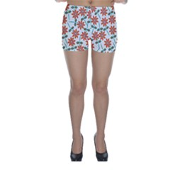 Floral Seamless Pattern Vector Skinny Shorts