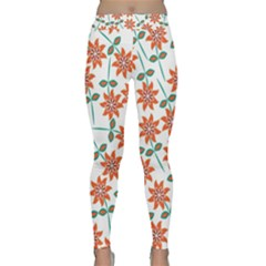Floral Seamless Pattern Vector Classic Yoga Leggings