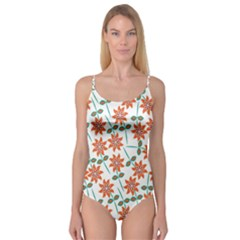 Floral Seamless Pattern Vector Camisole Leotard