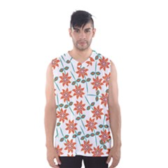 Floral Seamless Pattern Vector Men s Basketball Tank Top