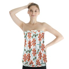 Floral Seamless Pattern Vector Strapless Top