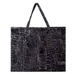 Old Black Background Zipper Large Tote Bag