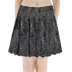 Old Black Background Pleated Mini Skirt