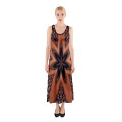 Digital Kaleidoskop Computer Graphic Sleeveless Maxi Dress