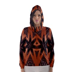Digital Kaleidoskop Computer Graphic Hooded Wind Breaker (Women)