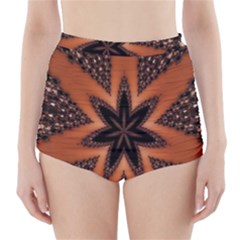 Digital Kaleidoskop Computer Graphic High Waisted Bikini Bottoms