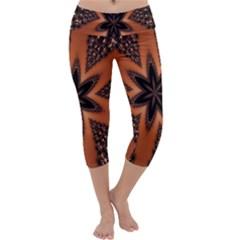Digital Kaleidoskop Computer Graphic Capri Yoga Leggings