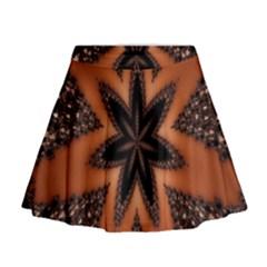 Digital Kaleidoskop Computer Graphic Mini Flare Skirt