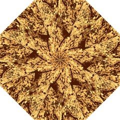 Abstract Brachiate Structure Yellow And Black Dendritic Pattern Straight Umbrellas
