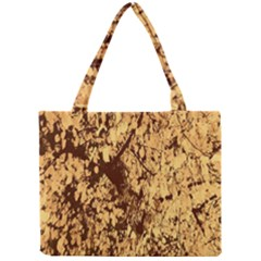 Abstract Brachiate Structure Yellow And Black Dendritic Pattern Mini Tote Bag