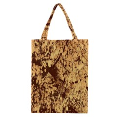 Abstract Brachiate Structure Yellow And Black Dendritic Pattern Classic Tote Bag