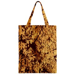 Abstract Brachiate Structure Yellow And Black Dendritic Pattern Zipper Classic Tote Bag