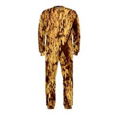Abstract Brachiate Structure Yellow And Black Dendritic Pattern OnePiece Jumpsuit (Kids)