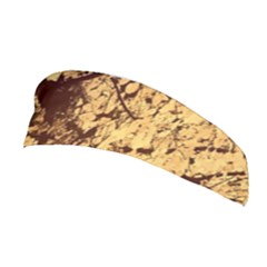 Abstract Brachiate Structure Yellow And Black Dendritic Pattern Stretchable Headband
