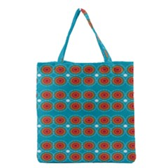 Floral Seamless Pattern Vector Grocery Tote Bag