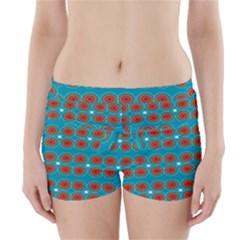 Floral Seamless Pattern Vector Boyleg Bikini Wrap Bottoms