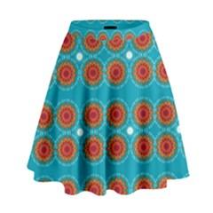 Floral Seamless Pattern Vector High Waist Skirt