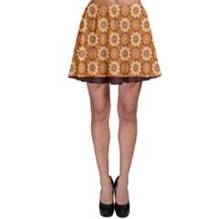 Floral Seamless Pattern Vector Skater Skirt