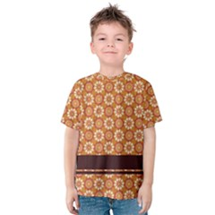Floral Seamless Pattern Vector Kids  Cotton Tee