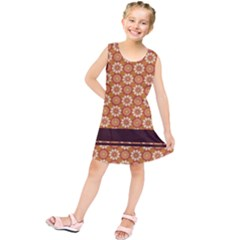 Floral Seamless Pattern Vector Kids  Tunic Dress