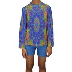 A Creative Colorful Backgroun Kids  Long Sleeve Swimwear