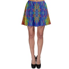 A Creative Colorful Backgroun Skater Skirt