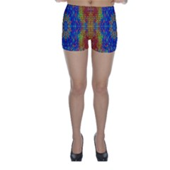 A Creative Colorful Backgroun Skinny Shorts