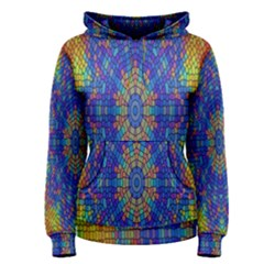 A Creative Colorful Backgroun Women s Pullover Hoodie