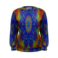 A Creative Colorful Backgroun Women s Sweatshirt