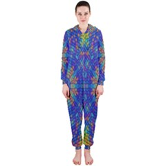 A Creative Colorful Backgroun Hooded Jumpsuit (Ladies)