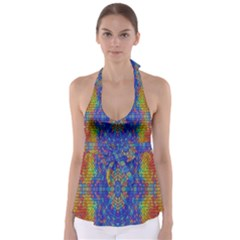 A Creative Colorful Backgroun Babydoll Tankini Top