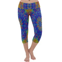 A Creative Colorful Backgroun Capri Yoga Leggings