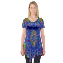 A Creative Colorful Backgroun Short Sleeve Tunic
