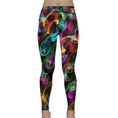 Rainbow Ribbon Swirls Digitally Created Colourful Classic Yoga Leggings