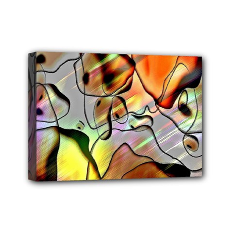 Abstract Pattern Texture Mini Canvas 7  x 5