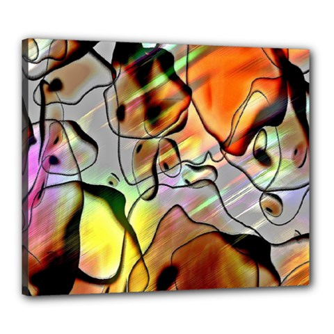 Abstract Pattern Texture Canvas 24  x 20