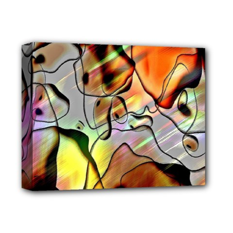 Abstract Pattern Texture Deluxe Canvas 14  X 11
