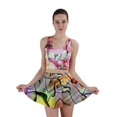 Abstract Pattern Texture Mini Skirt